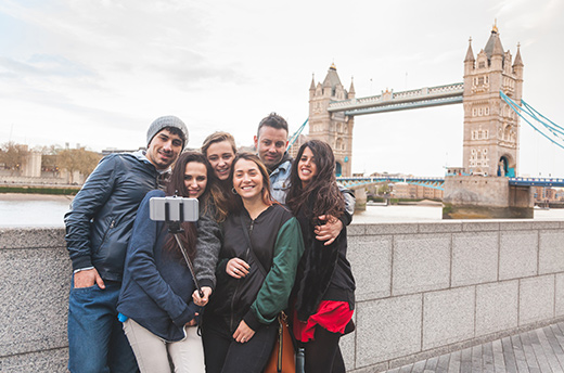 Étudiants en voyage en Europe